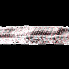 Формовочная сетка бело-красная 125 мм 10 м
